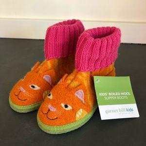 NWT Garnet Hill Boiled Wool Kids Slipper Boots